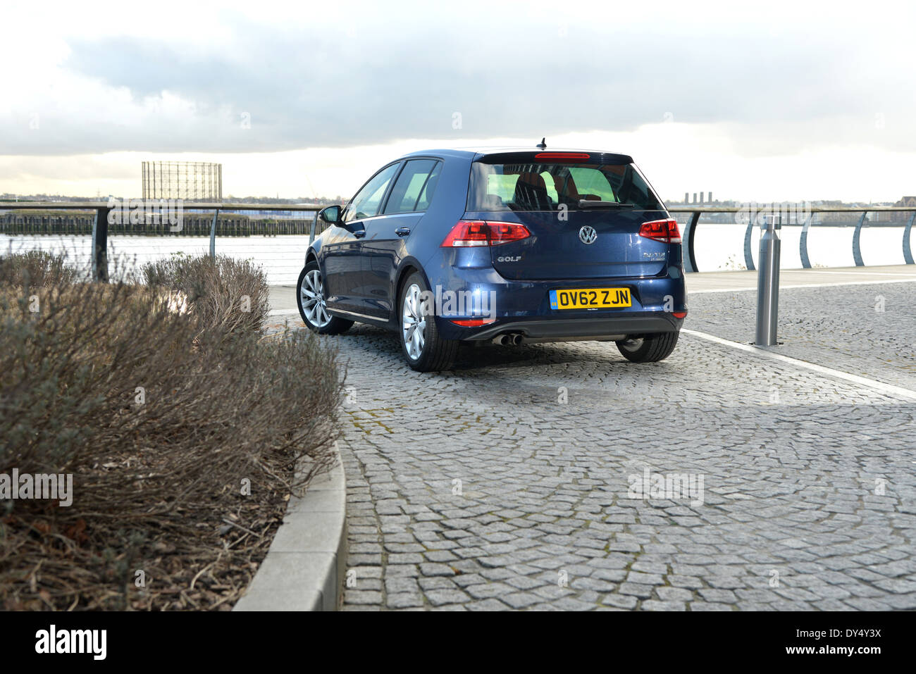 Mk7 VW Golf family car - Stock Image