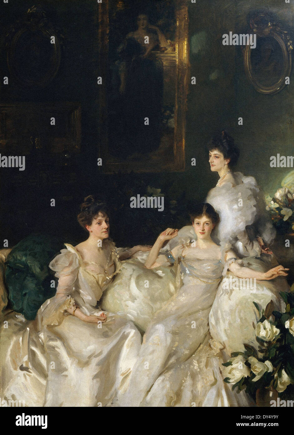 John Singer Sargent The Wyndham Sisters - Lady Elcho, Mrs. Adeane, and Mrs. Tennant - Stock Image