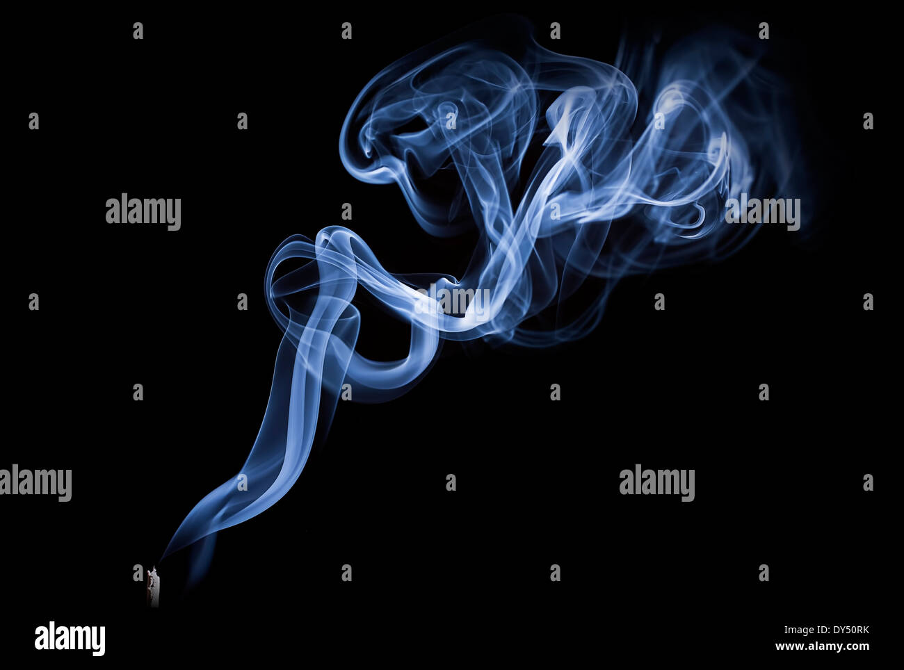 Blue smoke - Stock Image