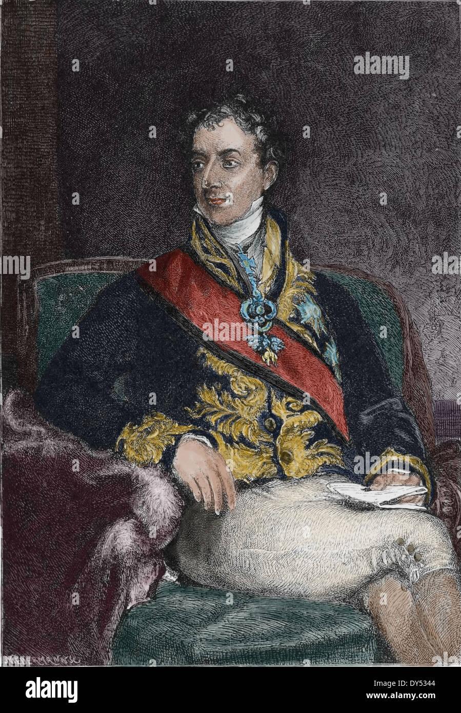 Klemens von Metternich (1773-1859). Austrian politician - Stock Image