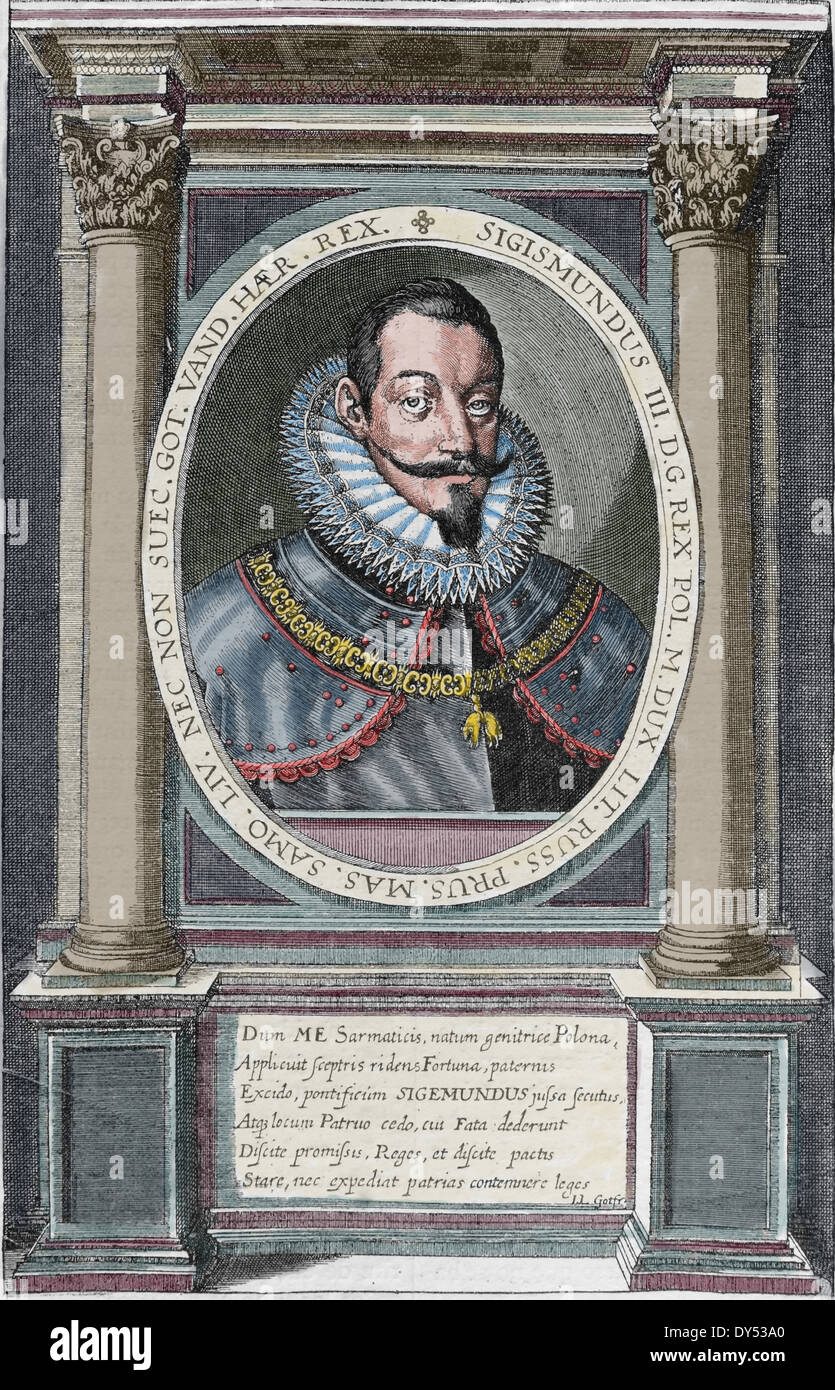 Sigismund III Vasa (1566-1632). King of Poland and Grand Duke of Lithuania, monarch of the united Polish-Lithuanian Commonwealth - Stock Image