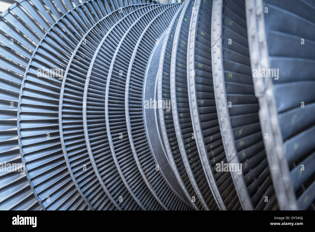 Detail of low pressure steam turbine - Stock Image