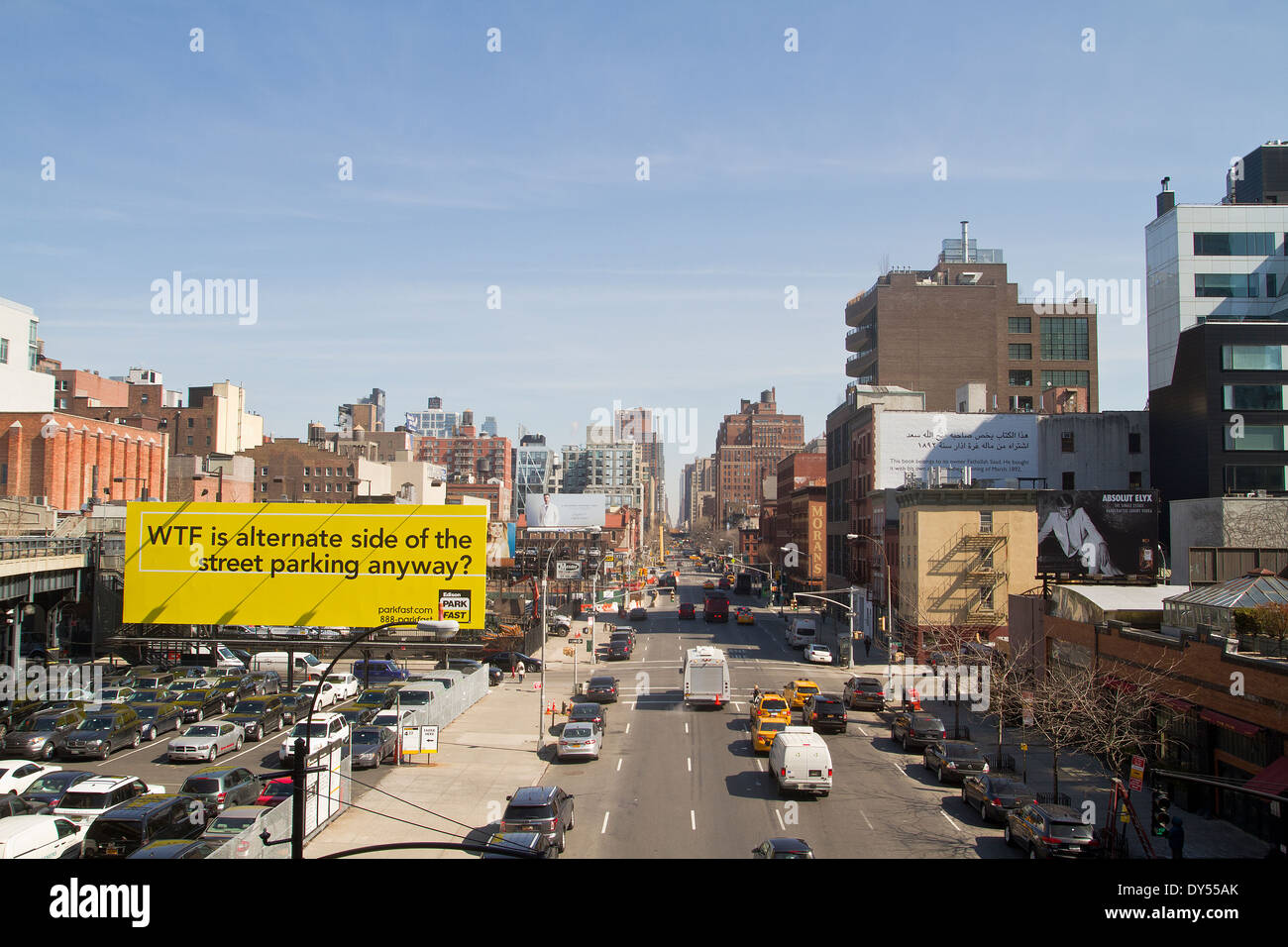 10th Avenue lower Manhattan New York - Stock Image