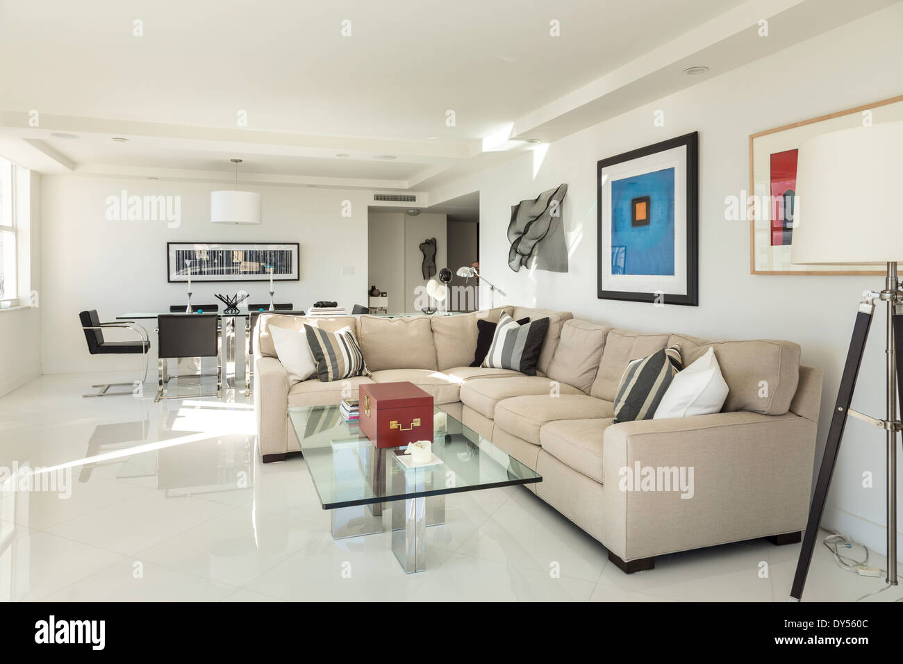 Showcase Luxury Condo Living Room and Dining Area Fort Lauderdale ...
