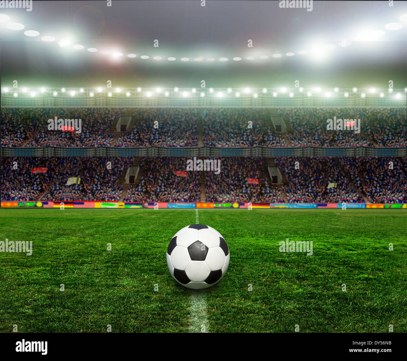 On the stadium. abstract football or soccer backgrounds - Stock Image