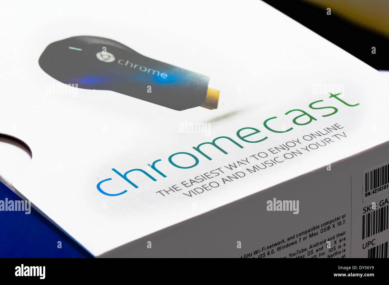Google Chromecast TV streaming device - Stock Image