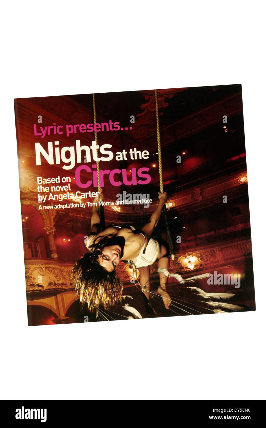 Programme for the 2006 production of Nights at the Circus by Angela Carter at the Lyric Theatre. - Stock Image
