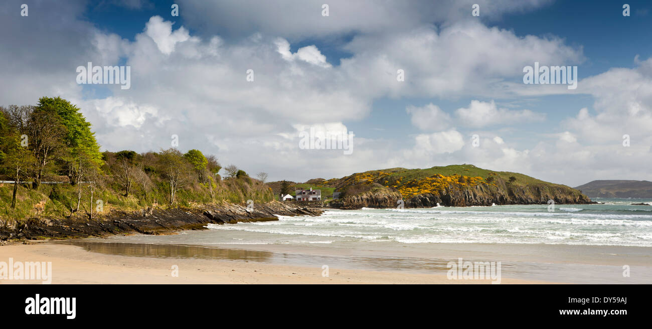 Ireland, Co Donegal, Dunfanaghy, Marble Hill Beach, panoramic - Stock Image