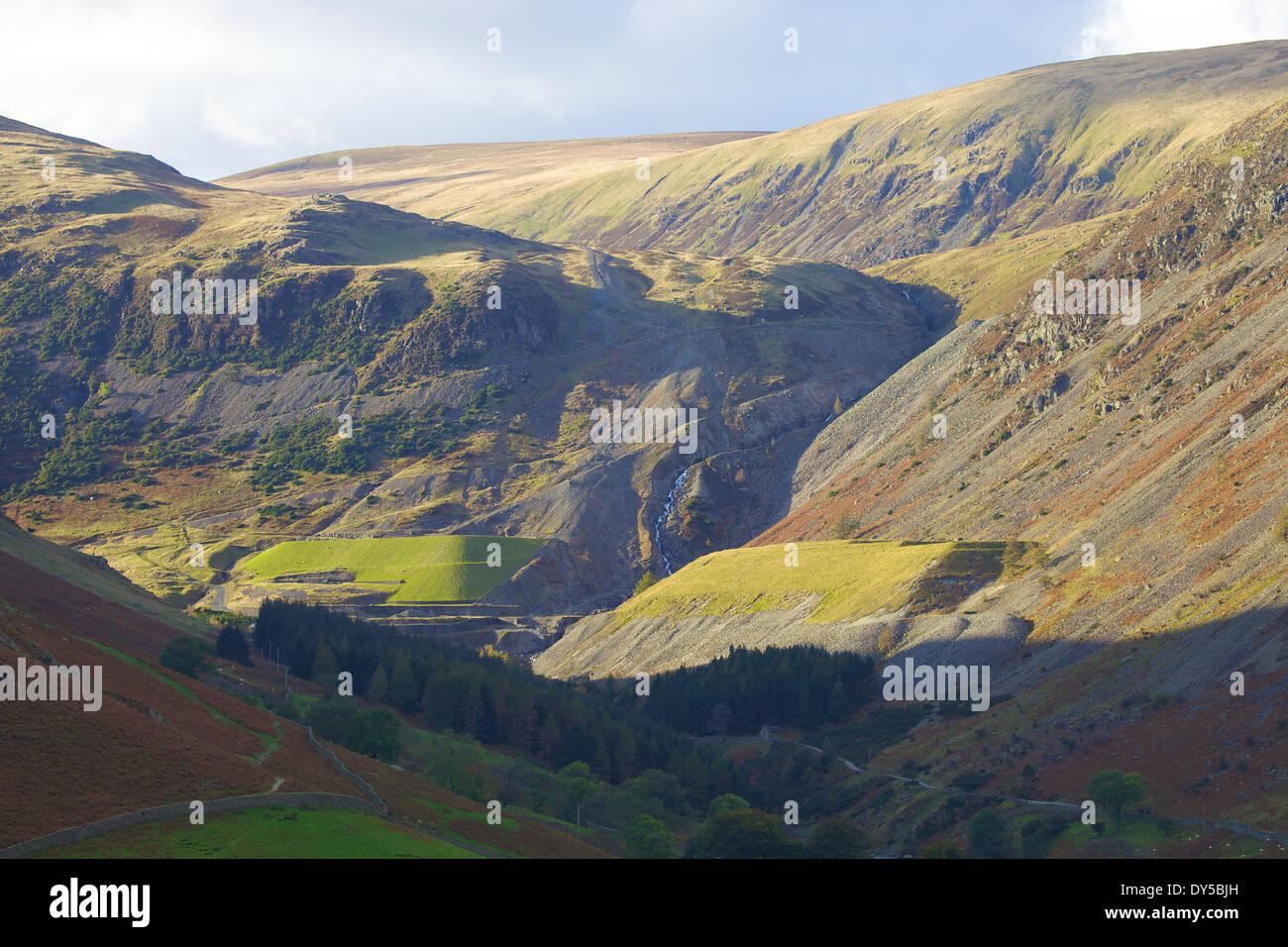 Greenside Mines disused Lead Mine, Glenridding, Cumbria, England United Kingdom. - Stock Image