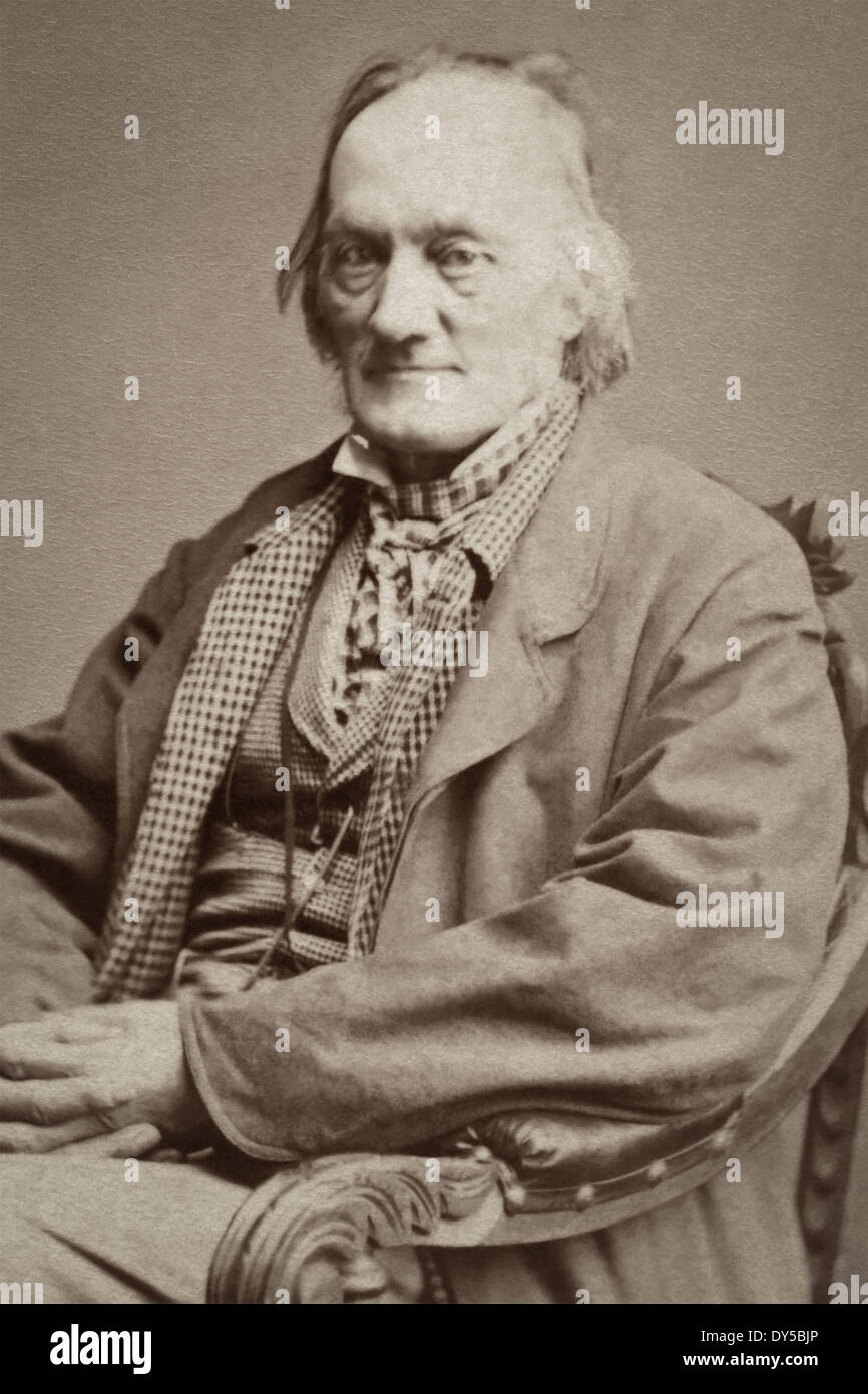 Portrait of Sir Richard Owen – English biologist, comparative anatomist, paleontologist, and opponent of Darwin's theory of evolution by natural selection. - Stock Image