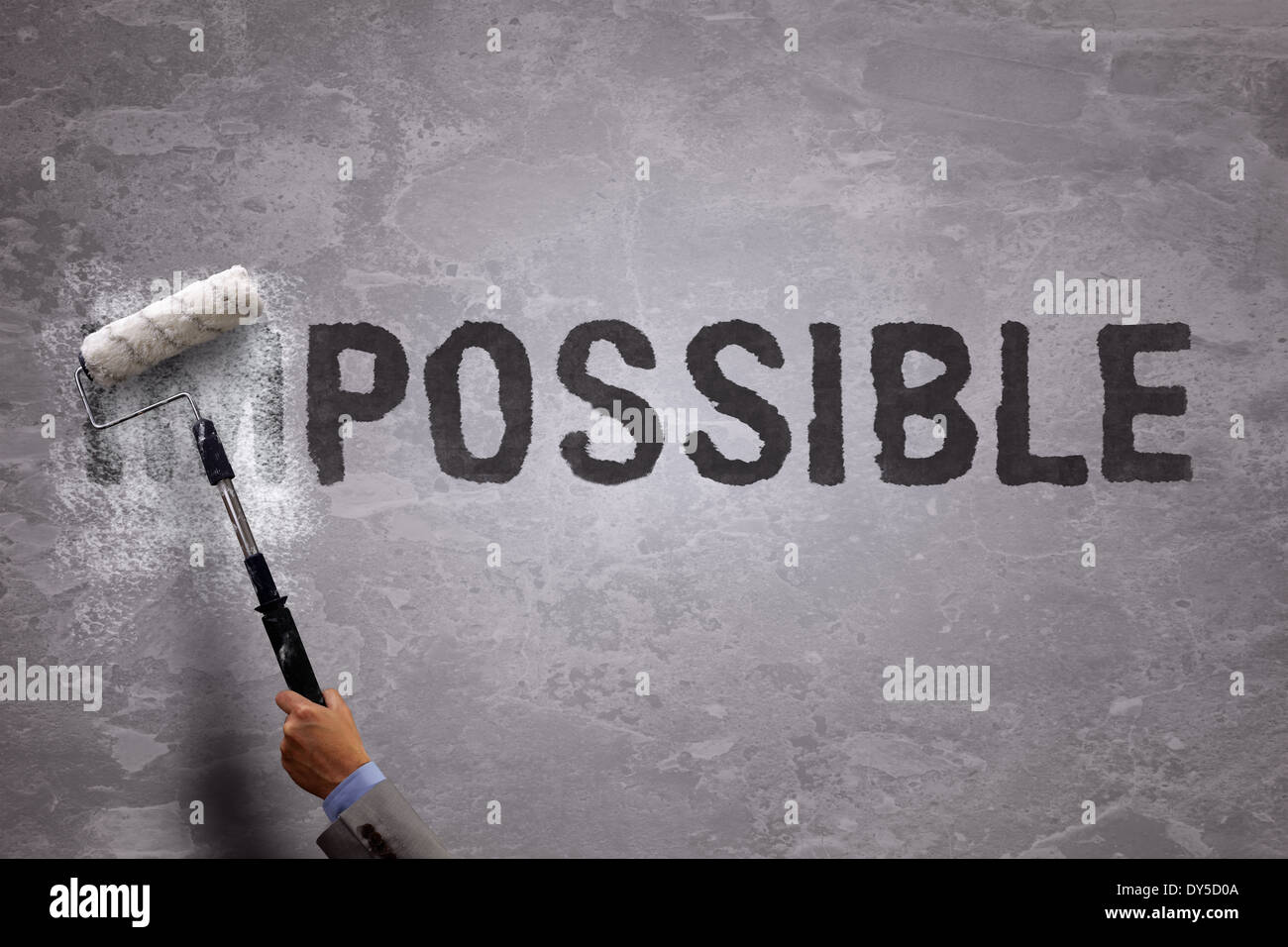 From impossible to the possible - Stock Image