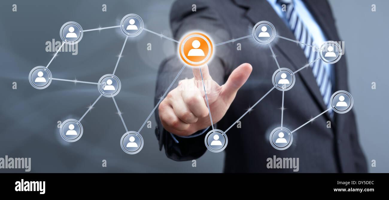 Social media interface - Stock Image