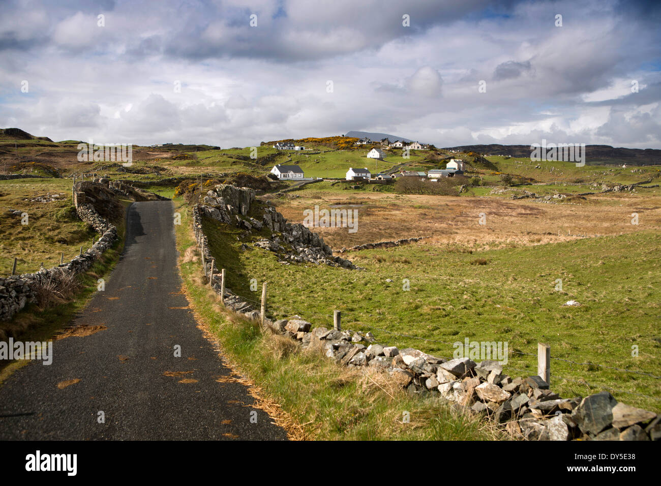 Ireland, Co Donegal, Marble Hill, road to Dunfanaghy - Stock Image
