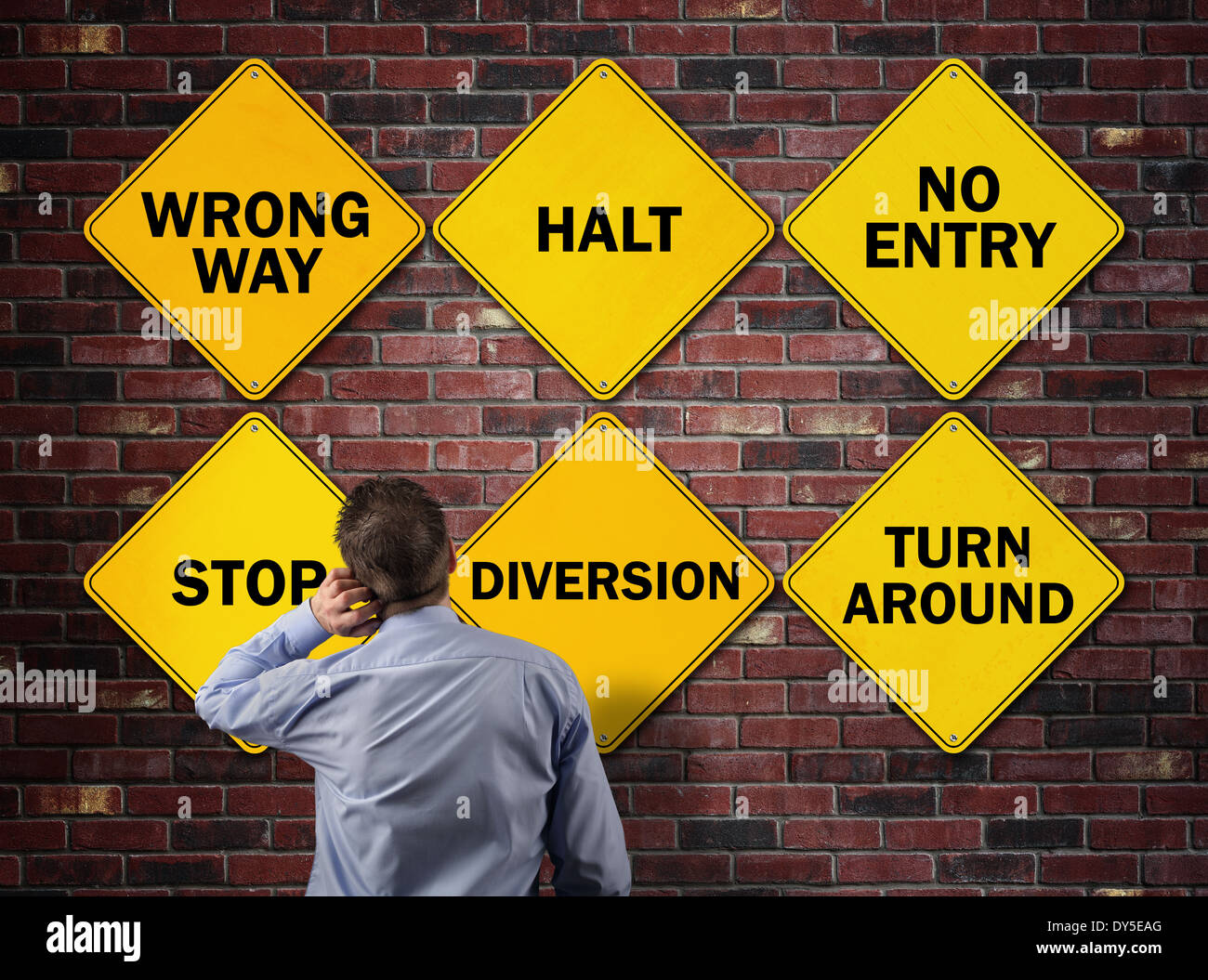 Business going the wrong way - Stock Image