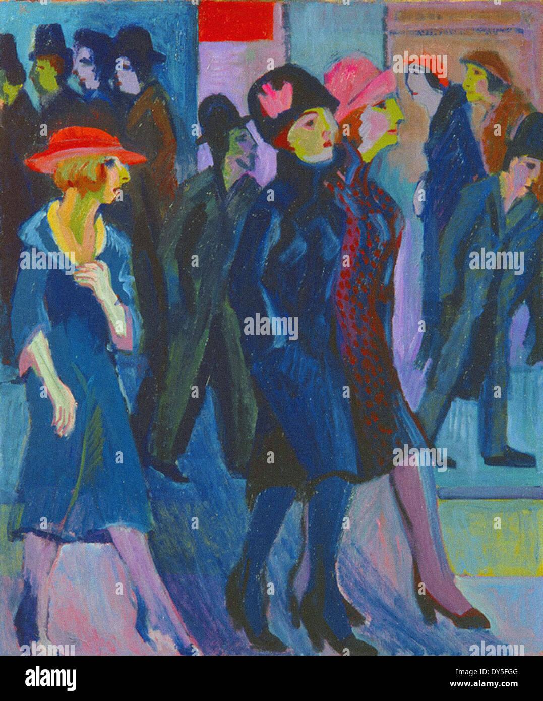 Ernst Ludwig Kirchner Street Scene - Stock Image