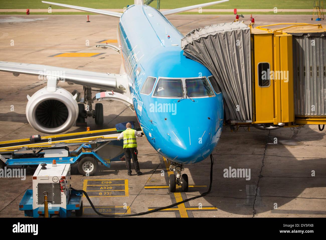Ministro Pistarini International Airport, also known as Ezeiza, the international airport in Buenos Aires, Argentina. - Stock Image