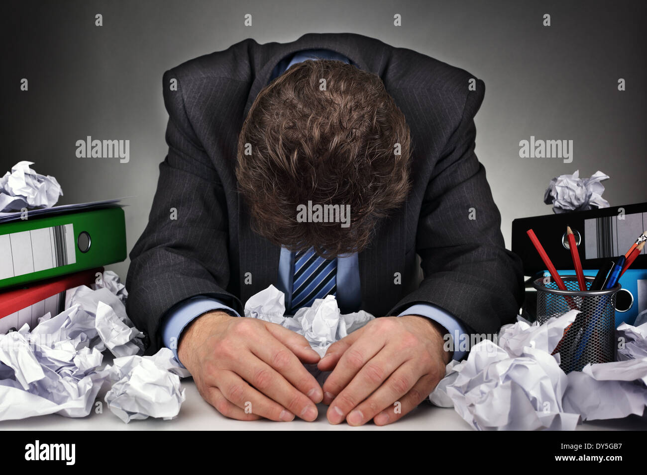 Overworked or writers block - Stock Image