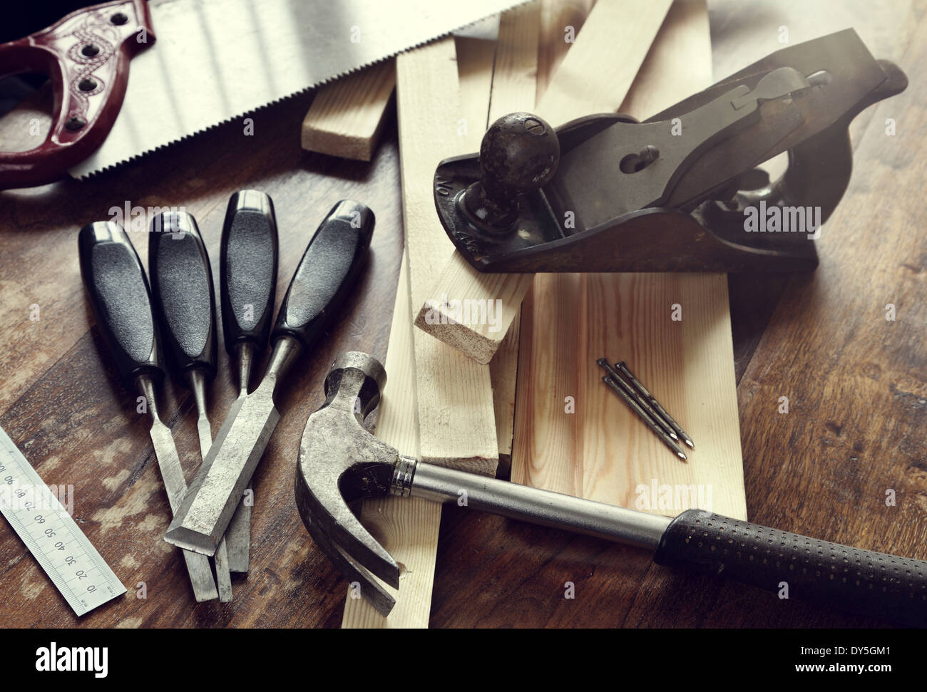 Woodwork tools - Stock Image