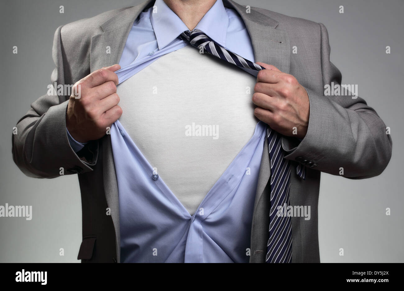 Superhero businessman - Stock Image