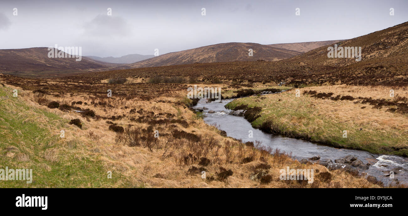 Ireland, Co Donegal, Glenveagh National Park, Glendowan, rain over Derryveagh Mountains - Stock Image