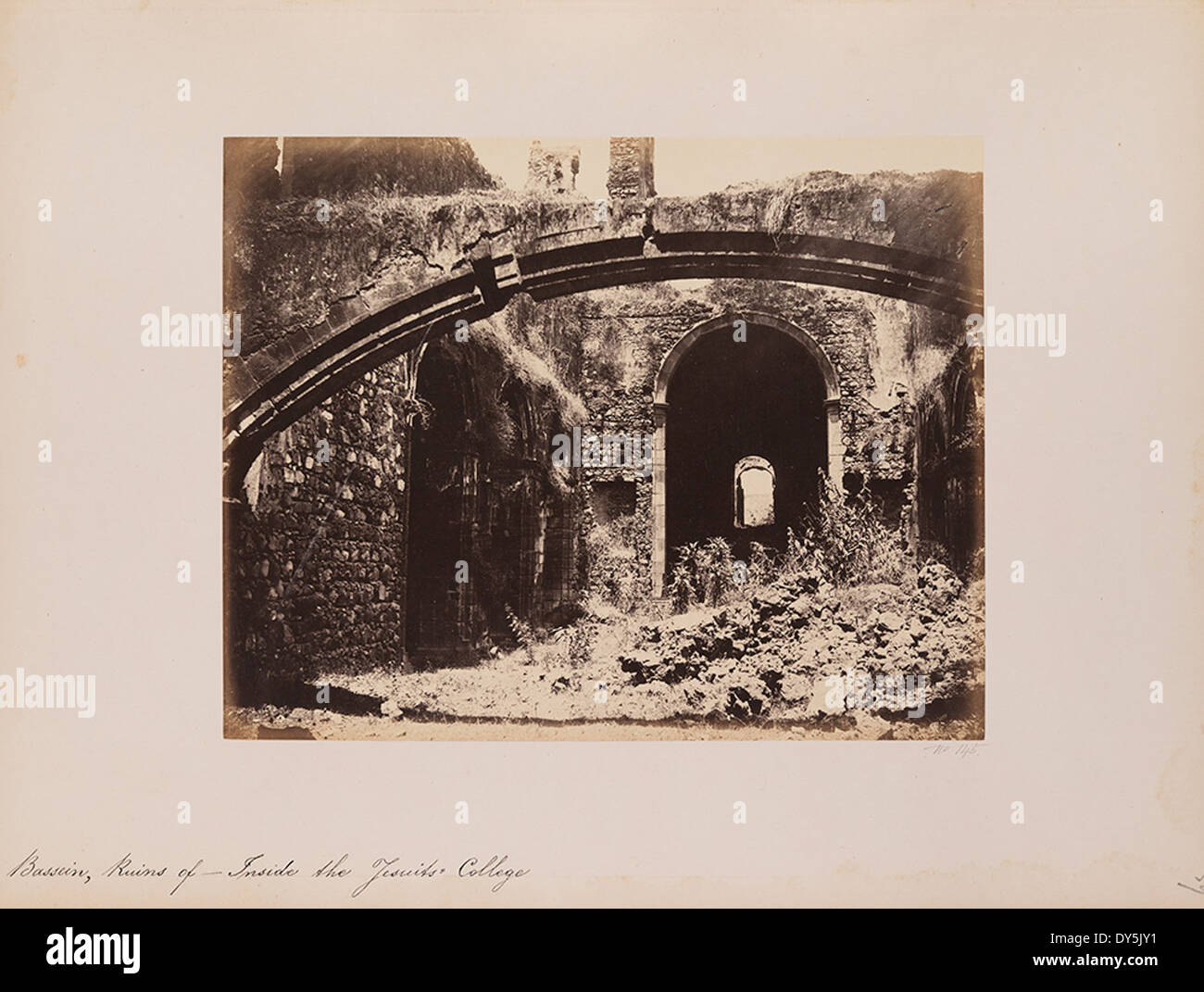 Bassein, Ruins of - Inside the Jesuits College - Stock Image