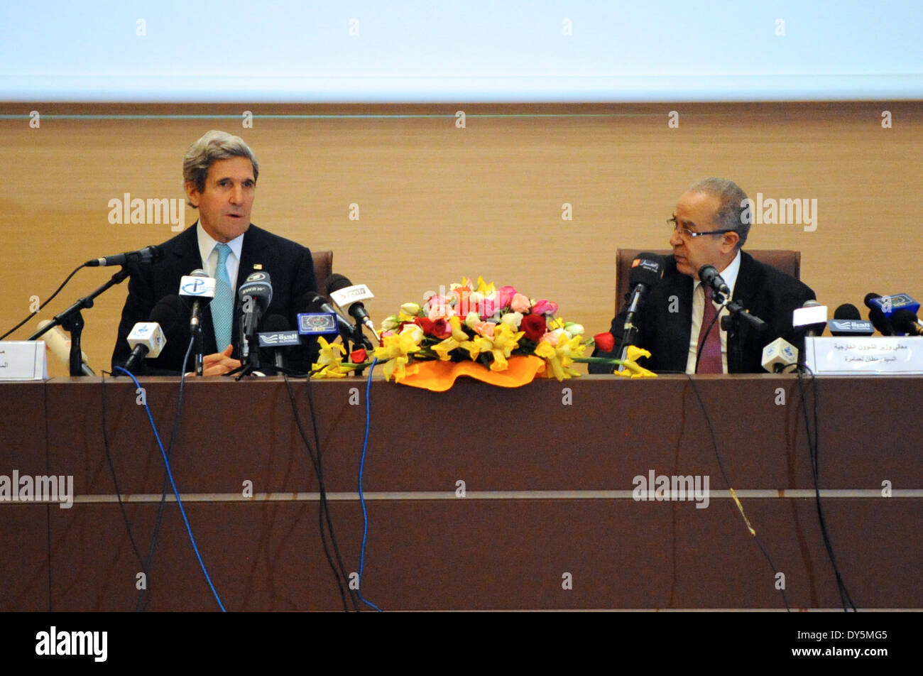 Secretary Kerry and Algerian Foreign Minister Open Strategic Dialogue Between Their Countries - Stock Image