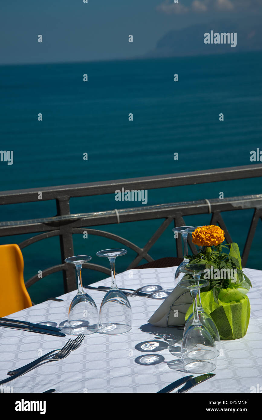 restaurant on the sea - Stock Image