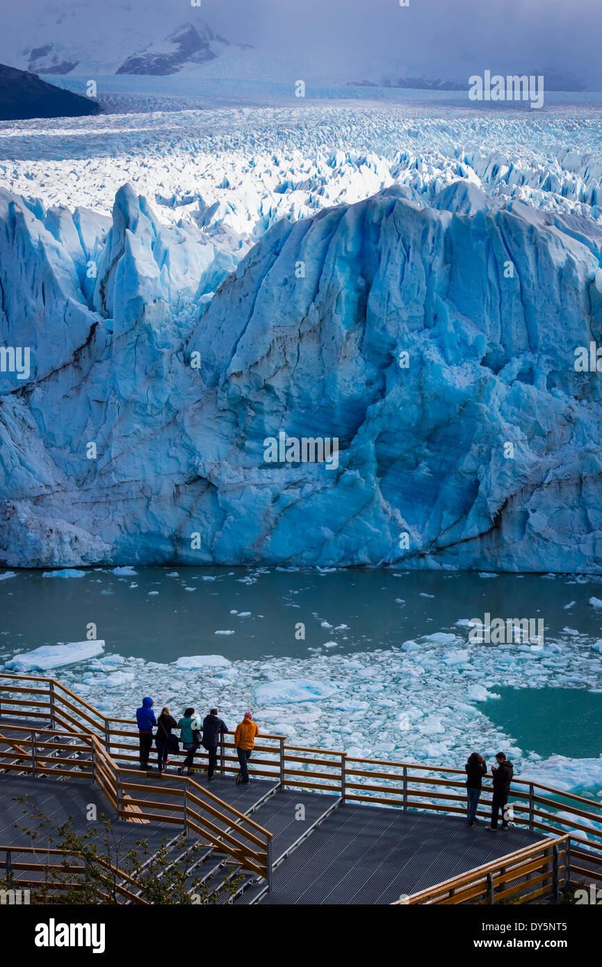 The Perito Moreno Glacier is a glacier located in the Los Glaciares National Park in southwest Santa Cruz province, Argentina. - Stock Image
