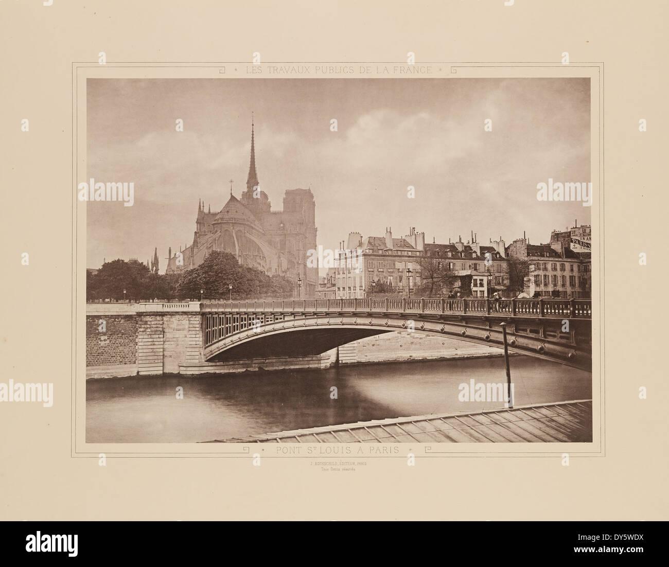 Pont St Louis a Paris - Stock Image