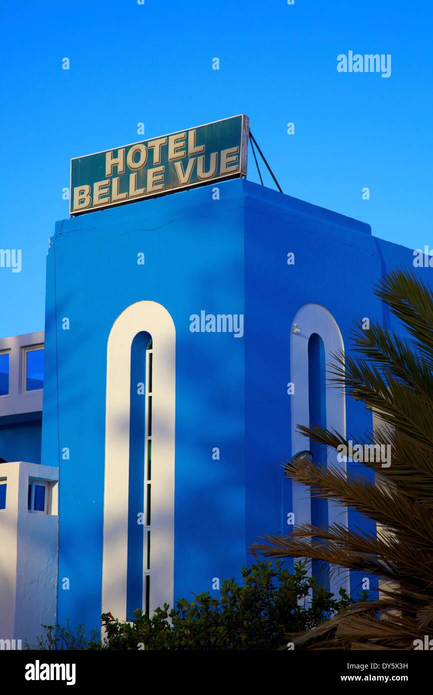 Art Deco architecture, Sidi Ifni, Morocco, North Africa, Africa - Stock Image
