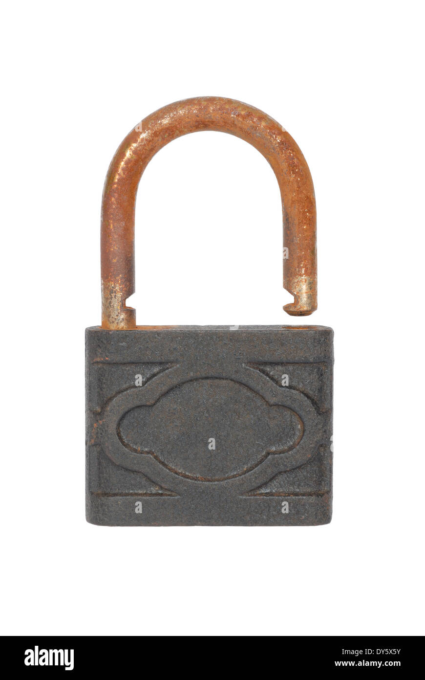 Rusty padlock - Stock Image
