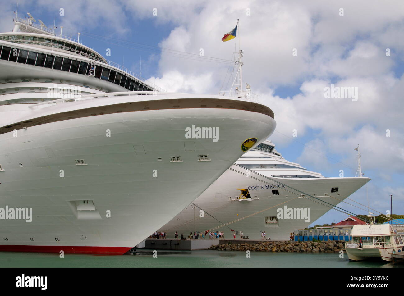 Cruise ships in St. Johns, Antigua, Leeward Islands, West Indies, Caribbean, Central America - Stock Image