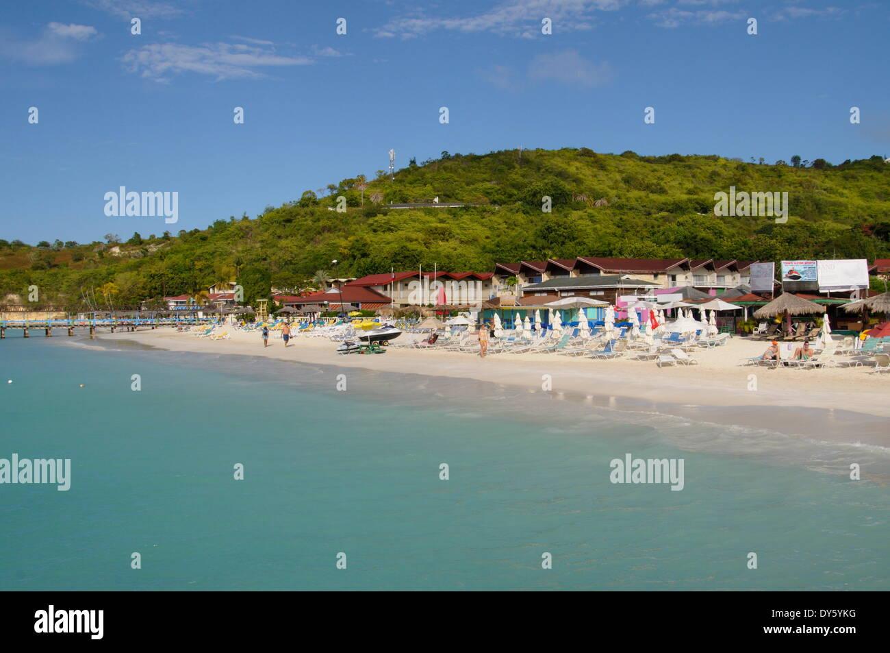 Halcyon Hotel, Dickensons Bay, Antigua, Leeward Islands, West Indies, Caribbean, Central America - Stock Image