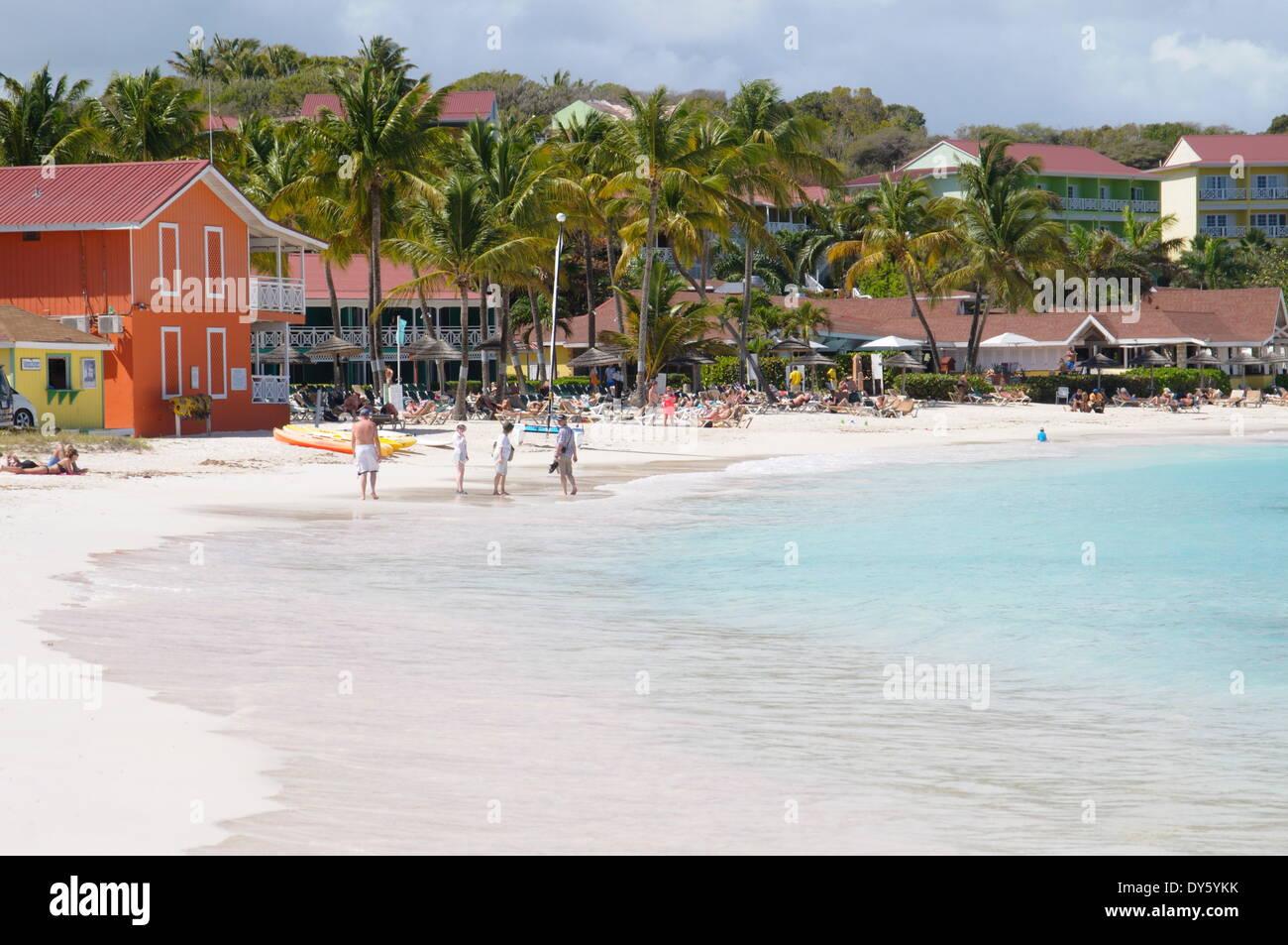 Pineapple Beach Club, Long Bay, Antigua, Leeward Islands, West Indies, Caribbean, Central America - Stock Image
