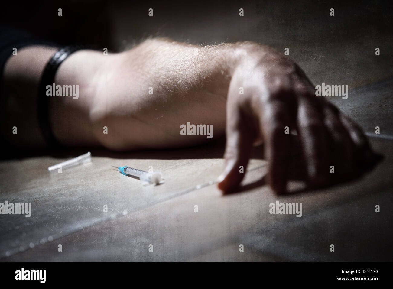 Drugs abuse - Stock Image