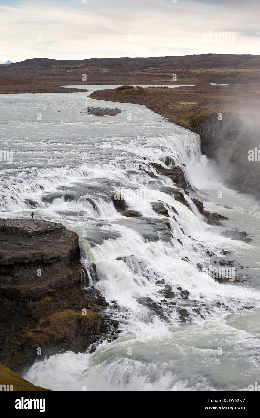 Gullfoss, Golden Circle tour, Iceland, Polar Regions Stock Photo