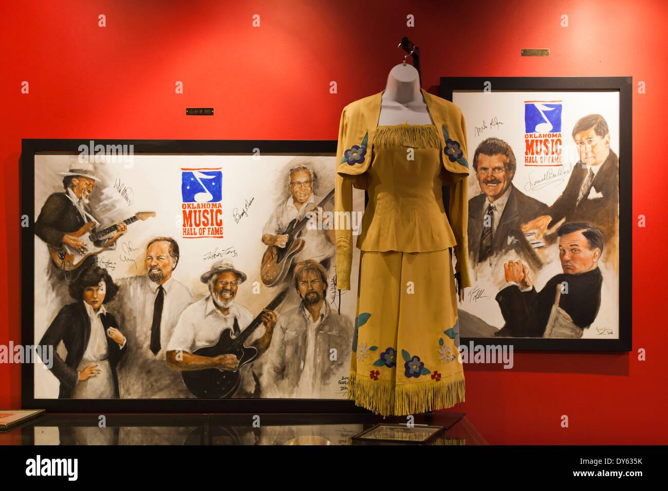 USA, Oklahoma, Muskogee, Oklahoma Music Hall of Fame interior display Stock Photo