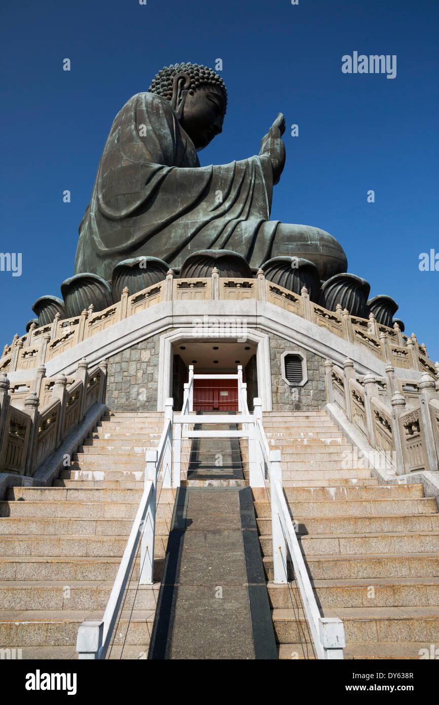 Big Buddha, Po Lin Monastery, Ngong Ping, Lantau Island, Hong Kong, China, Asia - Stock Image