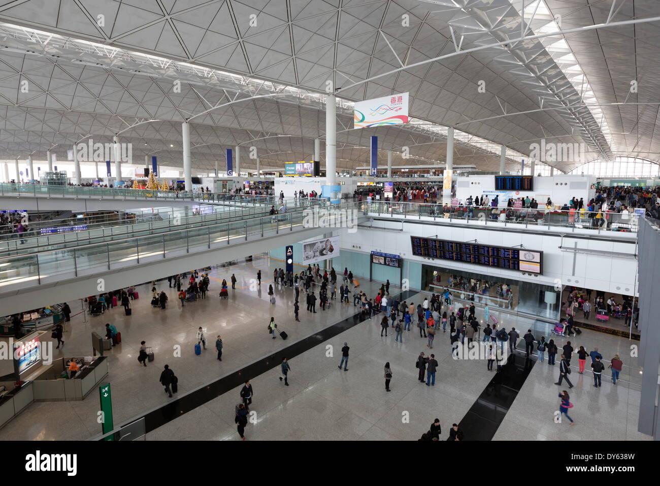 Hong Kong International Airport, Chek Lap Kok Island, Hong Kong, China, Asia - Stock Image