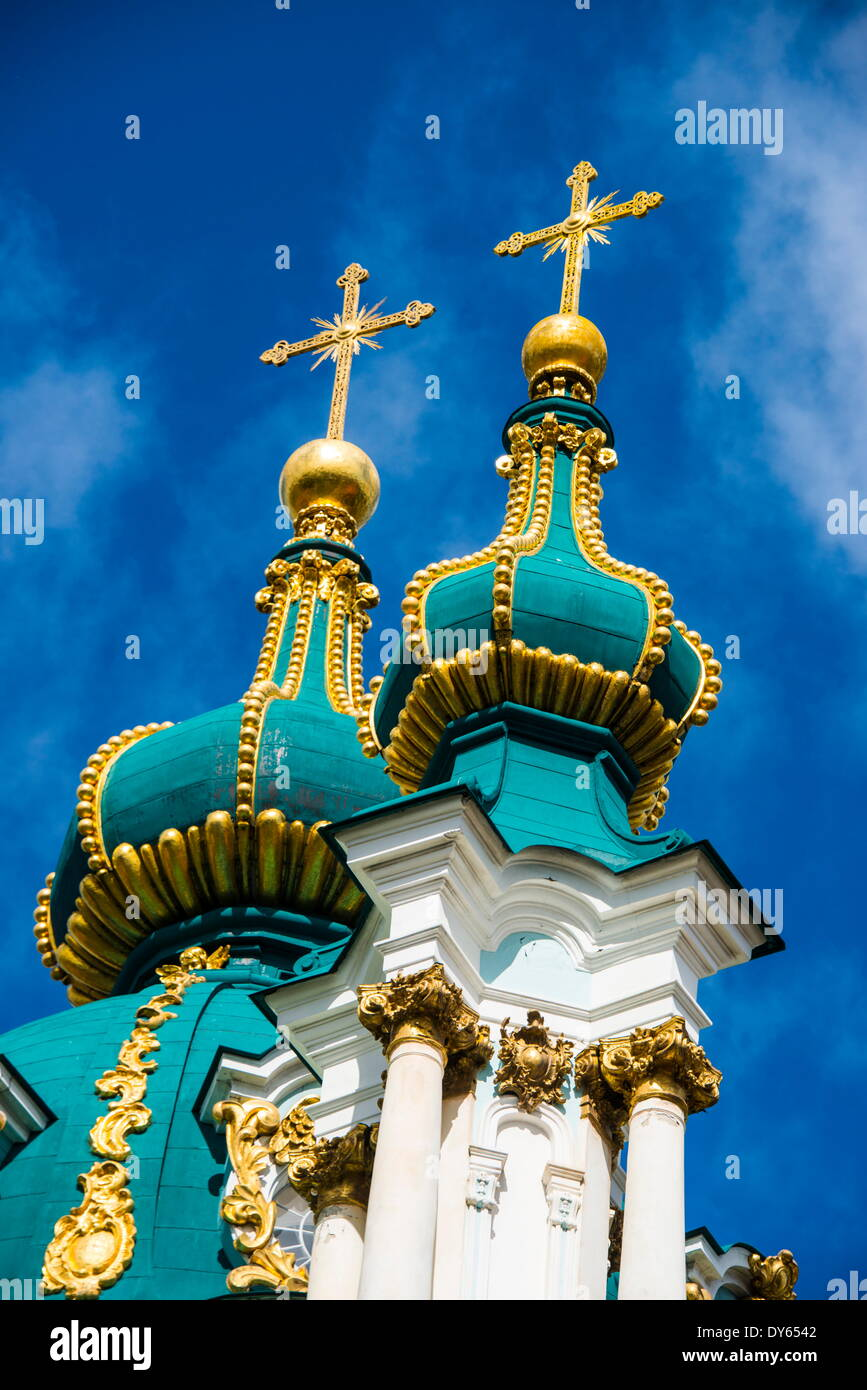 St. Andrews Church in Kiev (Kyiv), Ukraine, Europe - Stock Image