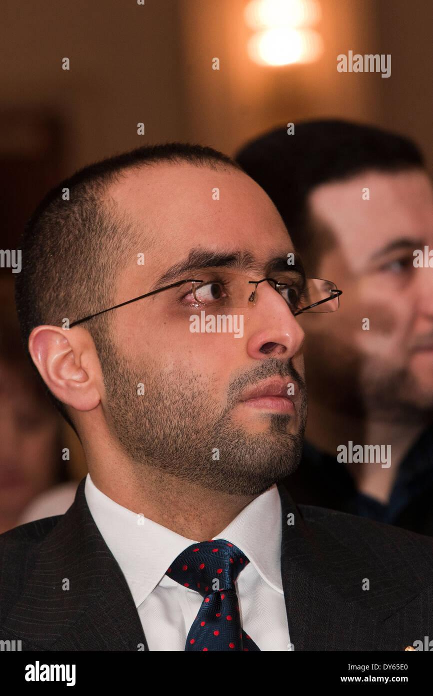 HRH Shaikh Mohammed Bin Maktoum at the two-day Gulf Education Conference in London 31.03.2014 - Stock Image