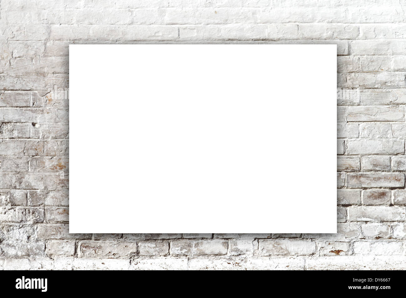 Poster Hanging On The Art Gallery Wall Paper Size Matches International A1 Format With Horizontal Orientation