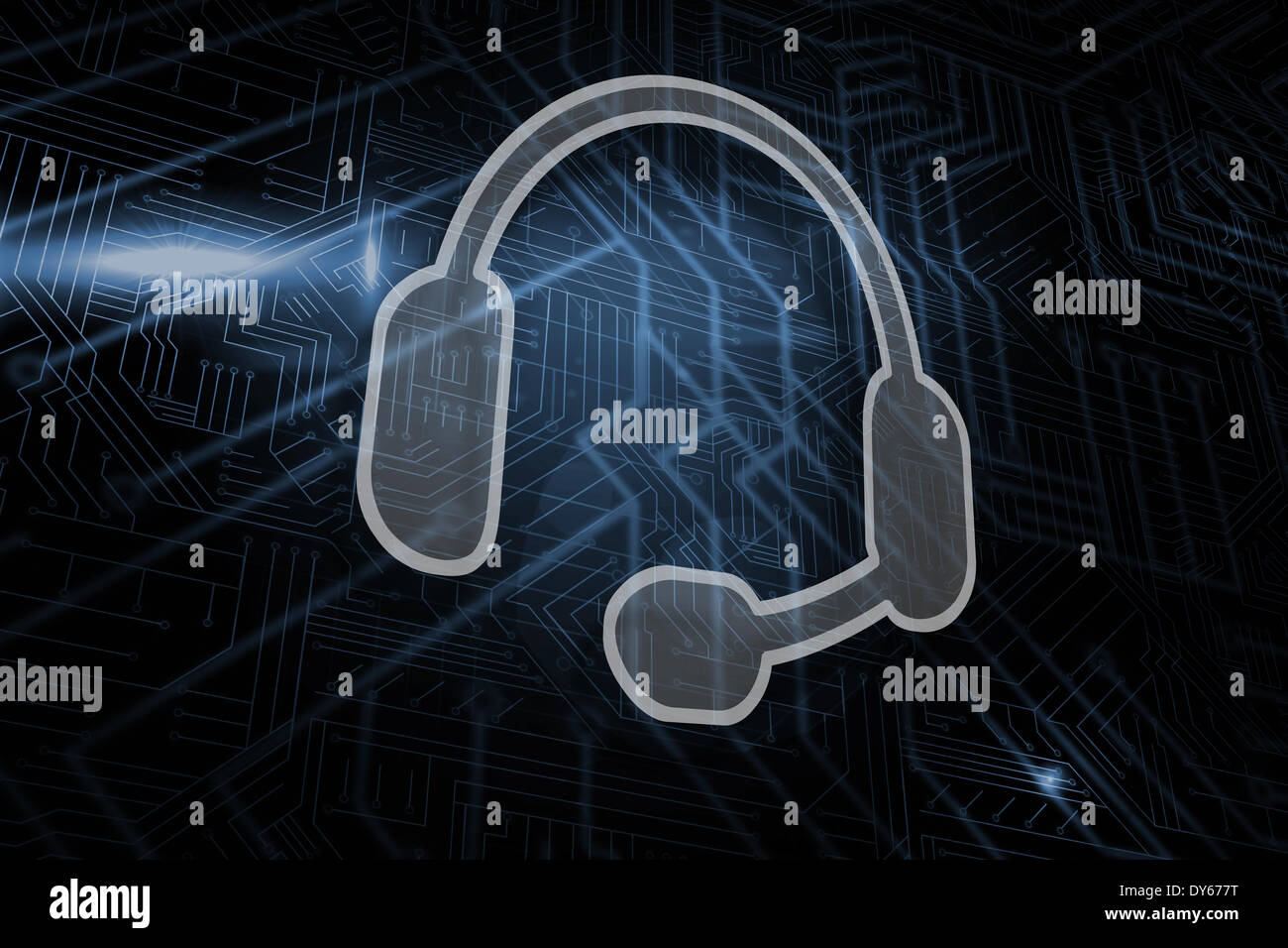 Composite image of headset Stock Photo