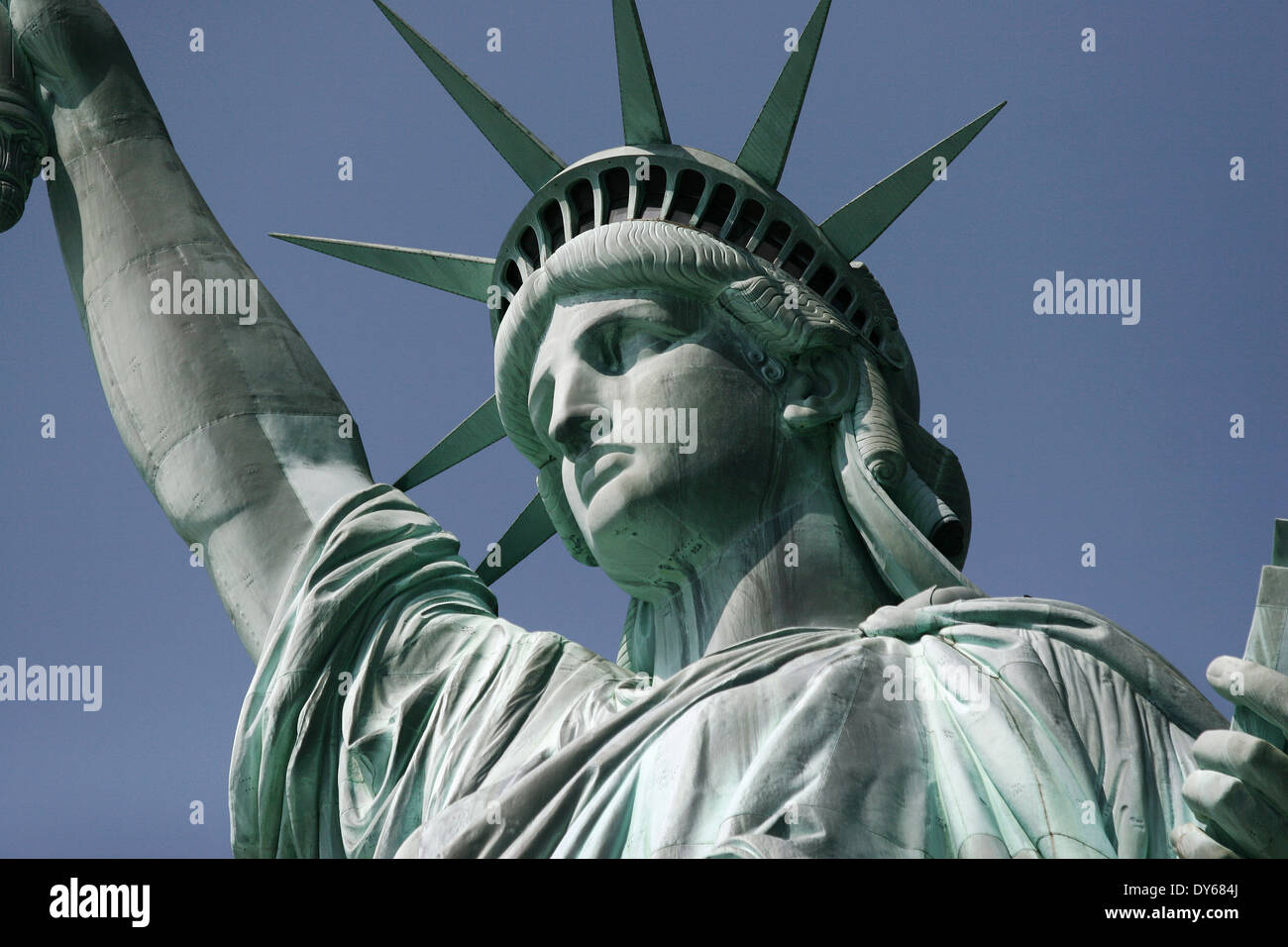 Statue of Liberty in Liberty island , New York , United States Stock Photo