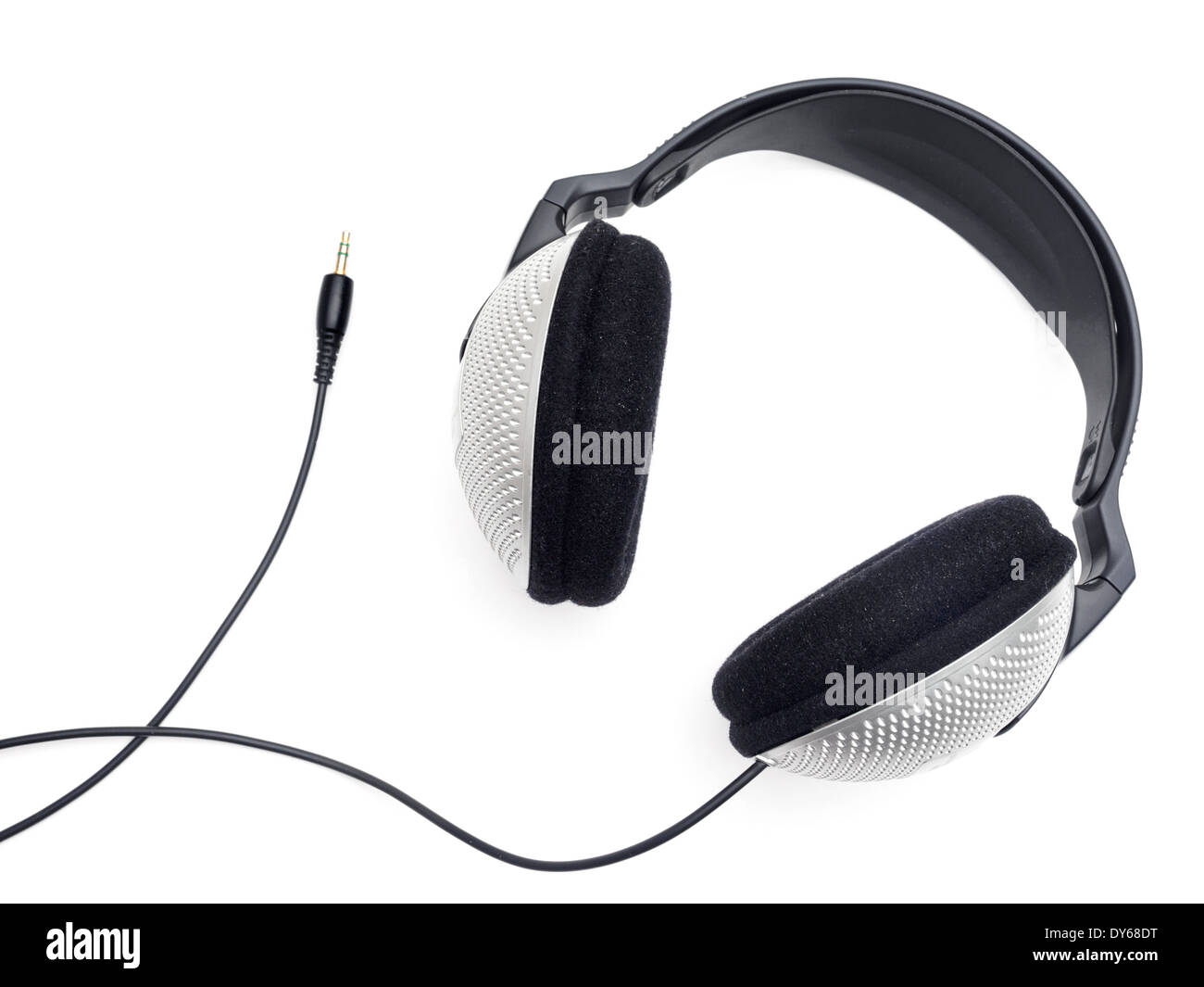 Headphones cut out isolated on white background - Stock Image