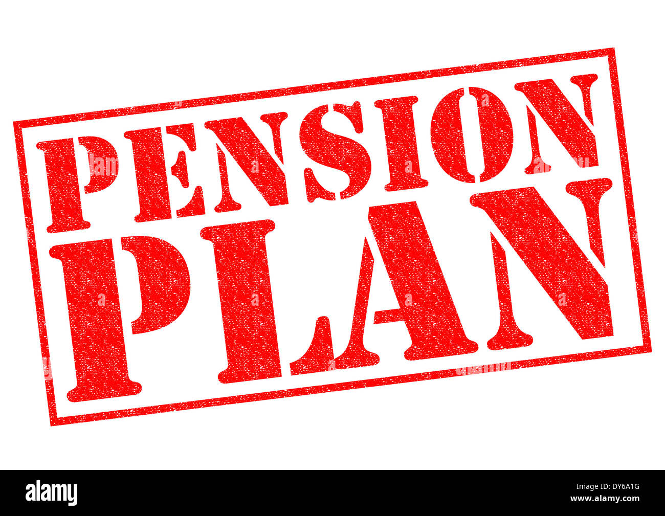 PENSION PLAN red Rubber Stamp over a white background. - Stock Image