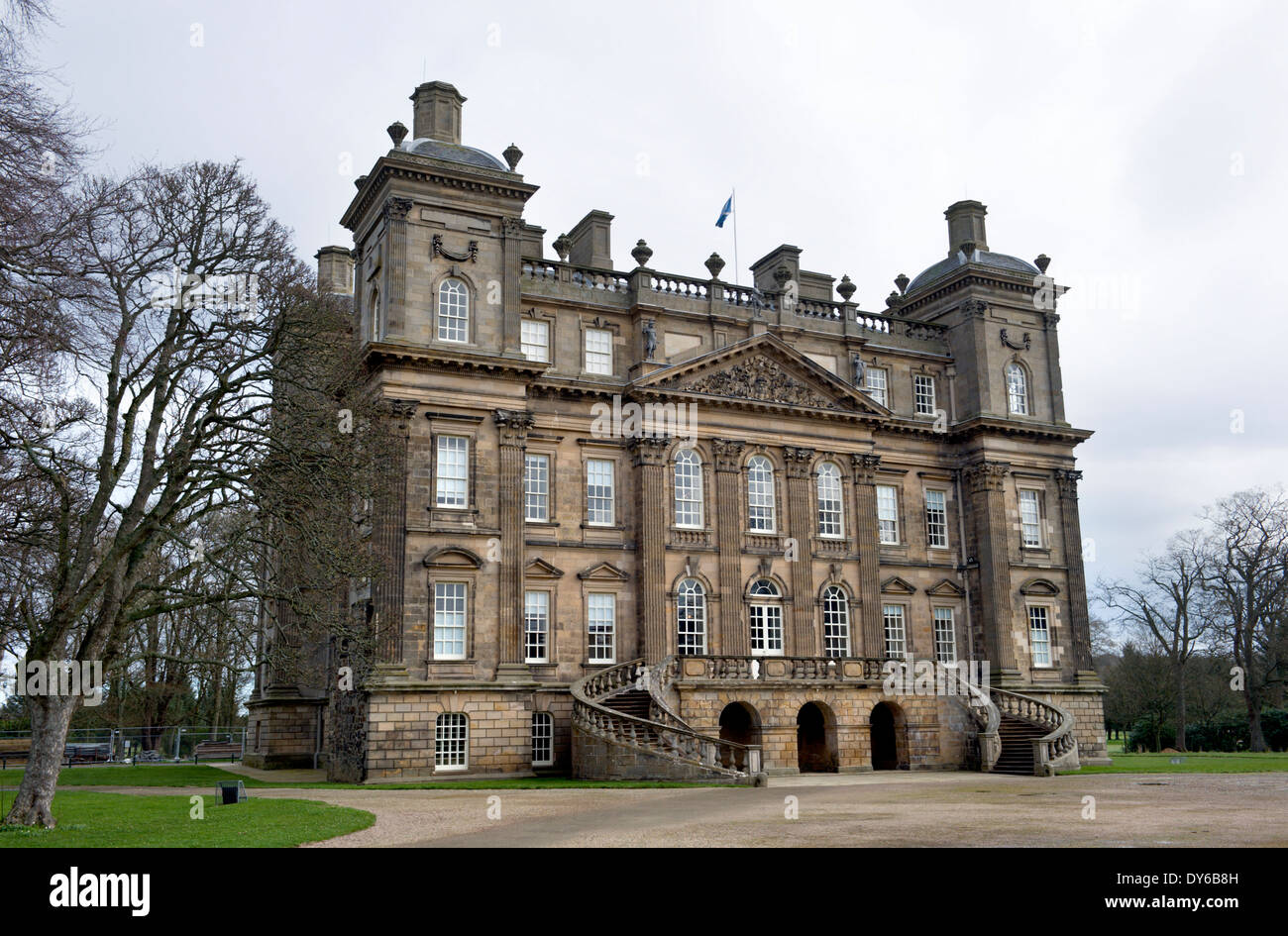 A view of the main front of Duff House Banff. - Stock Image