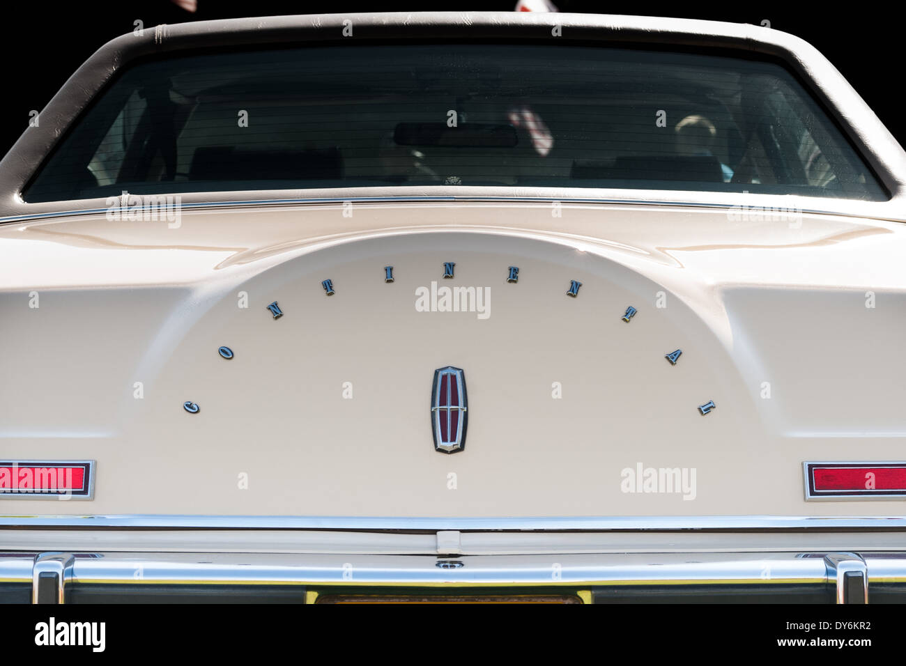 Lincoln Continental Trunk And Badge Detailing Stock Photo 68374070