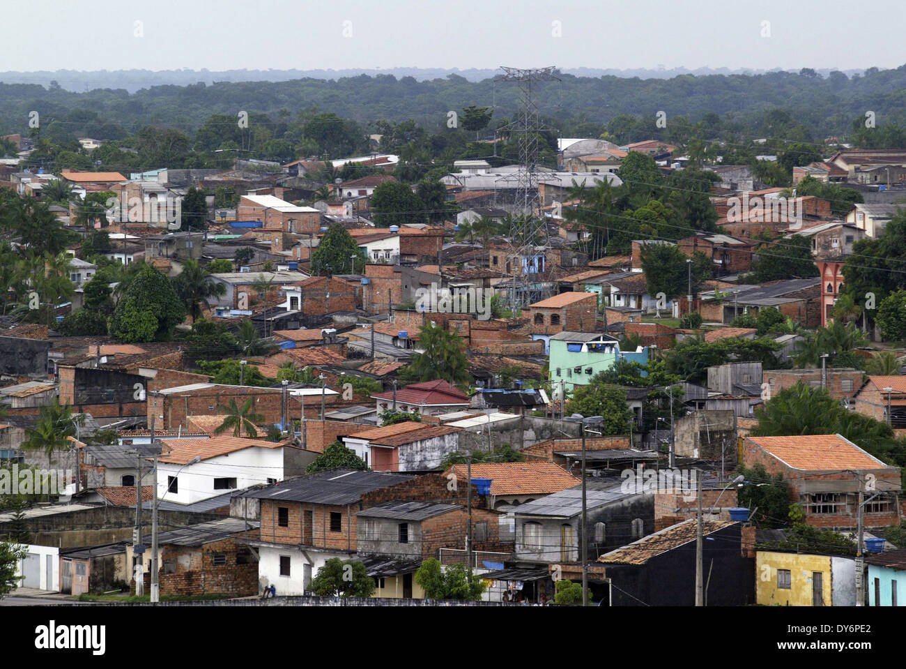 General view of the periphery in Belém northen Brazil. - Stock Image