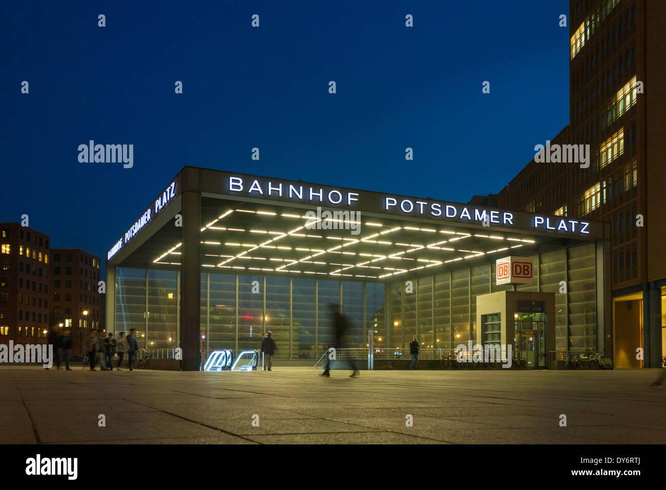 Train station Potsdamer Platz Tiergarten, Berlin, Germany - Stock Image